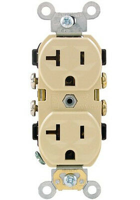 Leviton CR20-I Heavy-Duty Specification Grade Duplex Receptacle 10 pack