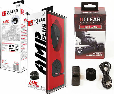 UClear AMP PLUS Bluetooth Headset DUAL Motorcycle Intercom and HBC Remote 161229