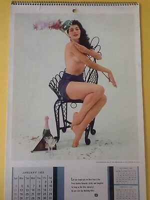 PLAYBOY Wall Calendar 1959. 2nd Year. Good Condition. No Sleeve. No Ink Marks.