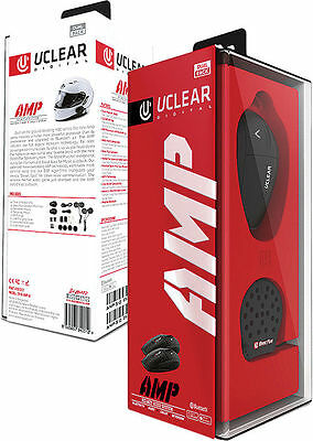 UClear AMP Bluetooth Headset DUAL 2 PACK Motorcycle Helmet Intercom 161227
