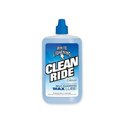 White Lightning Clean Ride Bicycle Bike Chain Lube 8oz