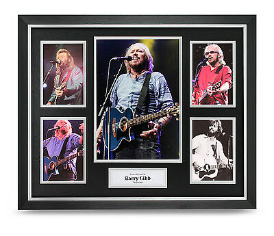 Barry Gibb Signed Photo Large Framed The Bee Gees Memorabilia Autograph Display