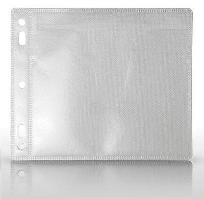 MediaSAFE Disc Album Dual CD/DVD Sleeve Inserts Clear - 100 Sleeves