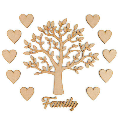 Family Tree Set MDF Laser Cut Wooden Craft Blank,Shape,Wedding,Guestbook
