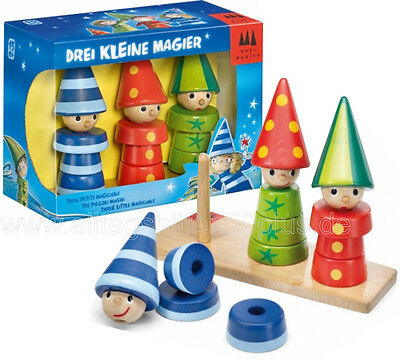 Drei Magier Game - Drei small Wizard from wood by Schmidt Games 40900 - NEW