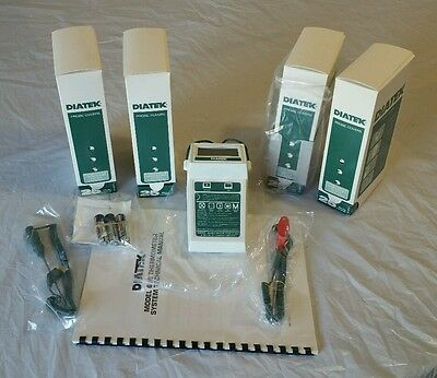 **NEW** Diatek 600 Thermometer System 2 Probes 975 Covers Wall Dispenser Manual