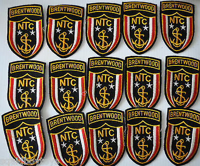 lot of 15 original NTC BRENTWOOD NAVY Patch US 1960s Military