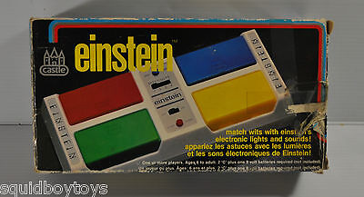 EINSTEIN vintage Electronic Memory TOY/ GAME 1980s w/ box tested