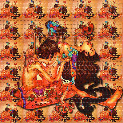 LOVE TRIP MELTING TOGETHER - BLOTTER ART Perforated Sheet acid free art page