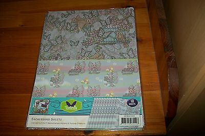 10 Sheets Backgroundpaper Yvonne Creations (A) 21X30 Cm New New