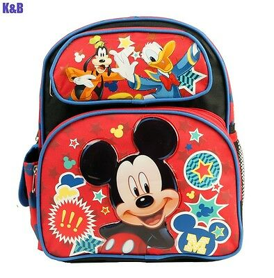 "Disney Mickey Mouse 12"" Inch Medium size School Backpack For Boys Kids Girls Bag"