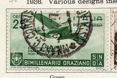 Italy 1936 Early Issue Fine Used 25c. 091155