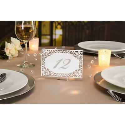 David Tutera™ Illusion Die Cut Lace Paper Table Number Cards - 25 Pieces