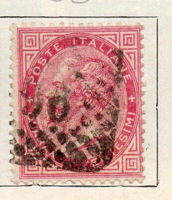 Italy 1863 Victor Early Issue Fine Used 40c. 091439