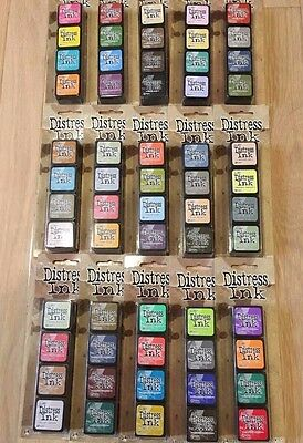 NEW Ranger Tim Holtz Mini Distress Ink Stamp Pad Kit (4 Ink Pads) YOU CHOOSE