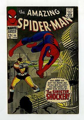 MARVEL Comics SPIDERMAN Amazing Silver age #46 1967 FN 1st SHOCKER Spider-man