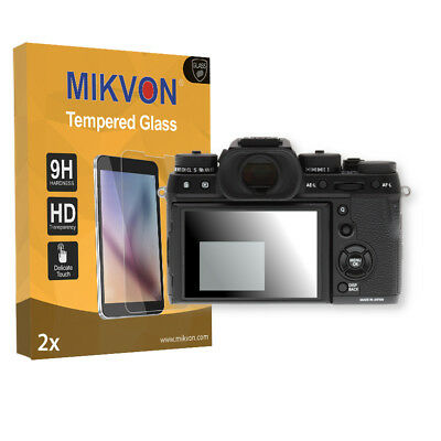 2x Mikvon Tempered Glass 9H for Fujifilm X-T2 Screen Protector Retail Package