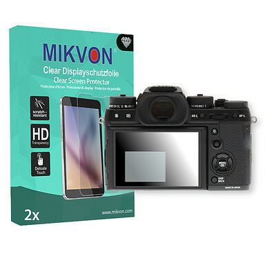 2x Mikvon Clear Screen Protector for Fujifilm X-T2 Retail Package + accessories