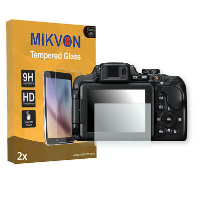 2x Mikvon Tempered Glass 9H for Nikon COOLPIX B700 Screen Protector accessories
