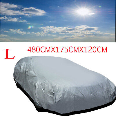 Universal Size L Full Car Cover UV Protection Waterproof Breathable Outdoor New