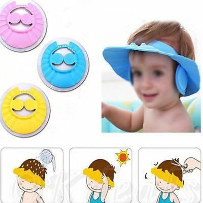 Baby Toddler  Shampoo Bath Shower Soft Hat Cap Wash Hair Waterproof Shield