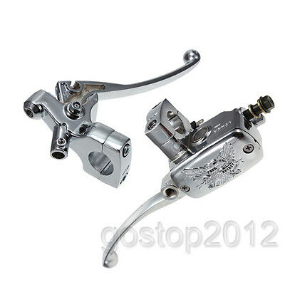 "1"" inch 25mm Motorcycle Brake Master Cylinder Clutch Lever Left Right For Harley"