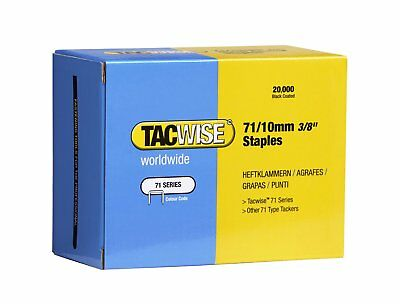 """Tacwise Series 71 10mm 3/8"""" Galvanised Staples  0369 Box Of 20,000 Upholstery"""