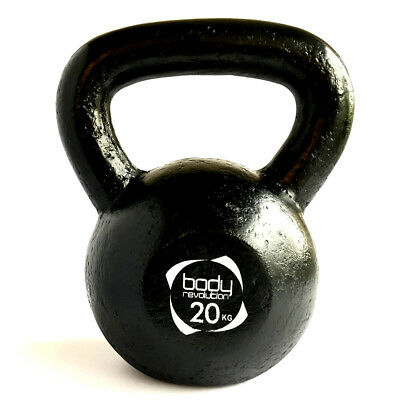 20Kg Cast Iron Kettlebell Dumbbell Weights Strength Training Weight