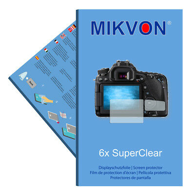 6x Mikvon films screen protector SuperClear for Canon EOS 80D