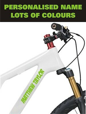 Personalised Bike Bicycle Frame Name Stickers For Cycle Mountain Bmx Racing