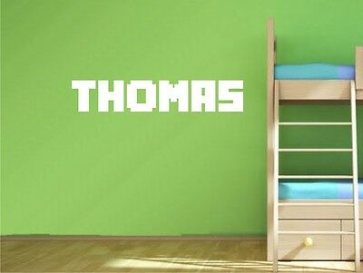 Minecraft Personalised Name Wall Art Childrens Bedroom Sticker Vinyl Decal