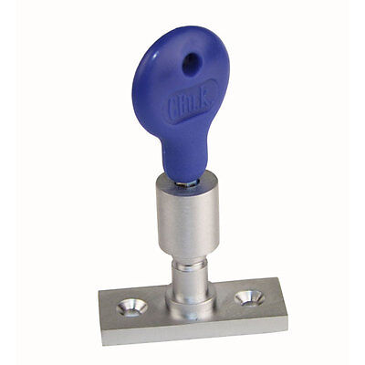 Window Lock For Timber Casement Stay With Key - Chrome Satin