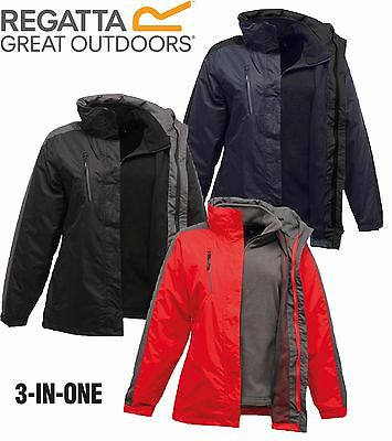 Rrp £95 Regatta Womens Ladies 3 In1 Chadwick / Laggan Waterproof Coat / Jacket