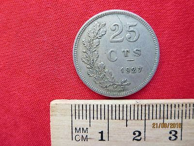Luxemburg - Luxembourg 25 Centimes 1927 - V