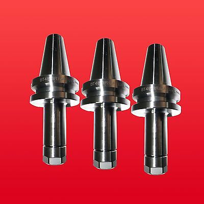 "3PCs BT40 ER16 MILLING COLLET CHUCK HOLDERS PROJ. 3.94"" BALANCE 25,000RPM"