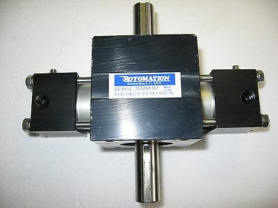 Rotomation A3-45-CW-D75-3C2-1/4-1 Special 45 Degree Double Shaft Rotary Actuator