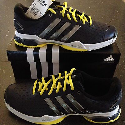 Adidas Barricade Team 4 Tennis Shoes Sports Gym Trainers Size 9 UK NEW IN BOX
