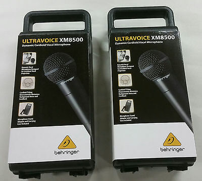 Behringer (2) Pack of Ultravoice XM8500 Dynamic Cardioid Vocal Microphones NEW
