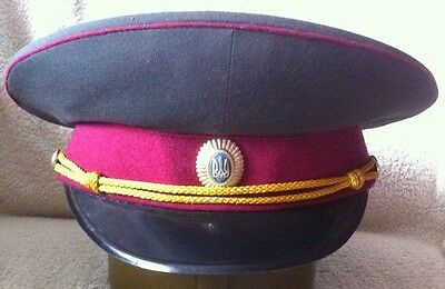 Soviet Hat Russian Military visor Cap Officer rmy Badge USSR CCCP UNIFORM