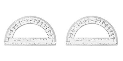 "SparcoPlastic Protractor 6"" Long Clear (SPR01490) 2 Packs"
