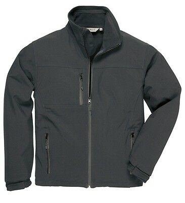 Portwest TK50BKRL Black Soft Shell Jacket - Large New