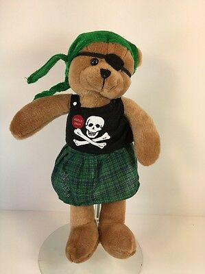 "Chantilly Lane Halloween Animated/Musical 11"" Pirate Bear (B744-A106)"
