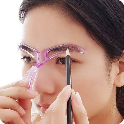 Grooming Stencil MakeUp Shaping DIY Beauty Eyebrow Template Stencils Make up Too