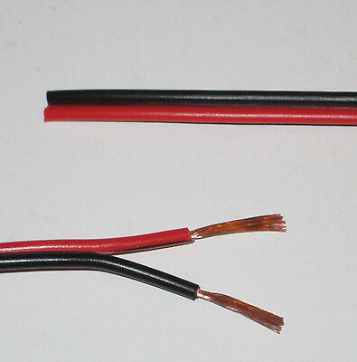 Red/Black electrical cable Car Home Speaker Twin wire 10A 32/0.2mm 10 AMP 10Metr