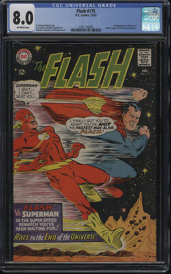 Flash #175 CGC 8.0 2nd Superman vs Flash Race OW Pages
