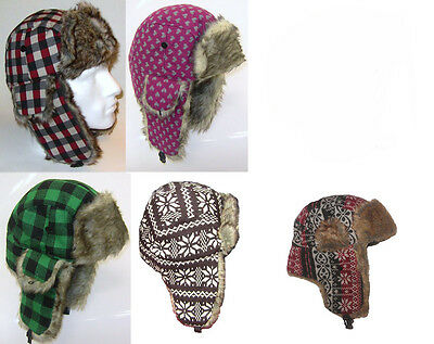 Wholesale  Lot  60  Trapper Pilot Hats  £1.50 Each
