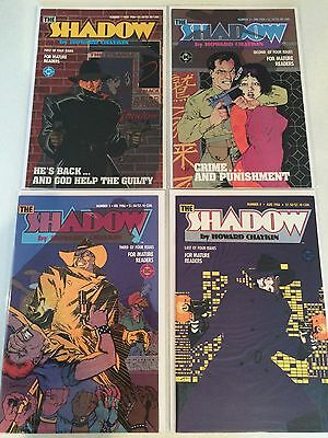 The Shadow #1-4 SET VF/NM or better 1986 Howard Chaykin series comic books