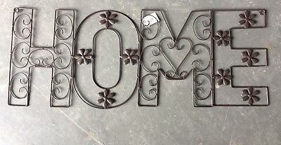 "New Rustic Wall Hanging Sign ""Home""  28cm X 72cm"