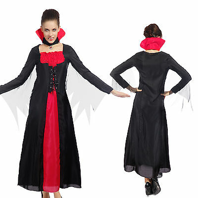Sexy Donna Carnevale Cosplay Costume di Vampira Evil Queen Halloween Fancy Dress