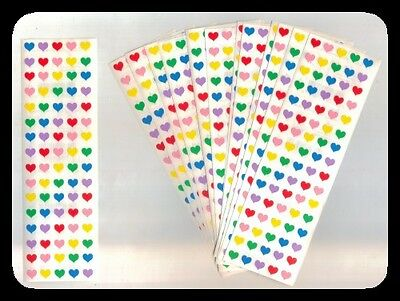 *MICRO HEARTS* 15 Sheets MRS GROSSMAN'S Stickers VALENTINE'S DAY Vintage 1984